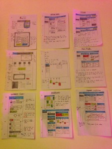 Just a few of my initial wireframes